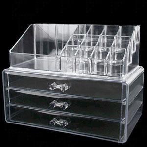 Подставка для косметики 0811 2в1 комод с 3 ящиками и подставкой