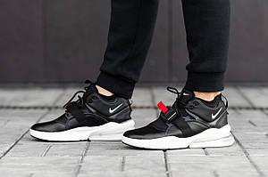 Мужские кроссовки Nike Air Force 270 \ Найк Аир Форс 270 Черно-Белые \ Чоловічі кросівки Найк Аір Форс 270