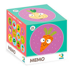 Гра настільна Мемо Фрукти та Овочі 300156