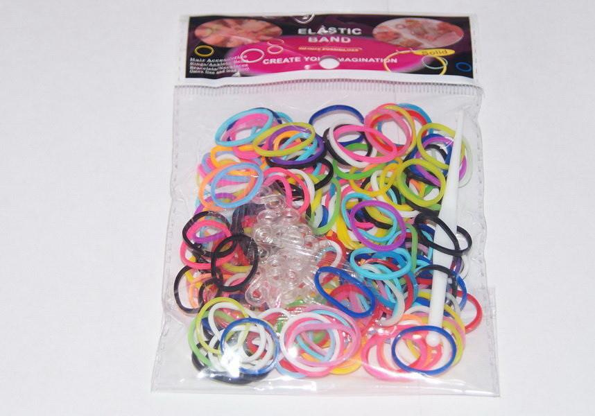 Резинки для плетения браслетов Разноцветные