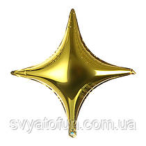 """Фольгированный шар звезда золото 26"""" Китай"""
