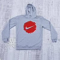 Мужская весенняя кофта-худи, кенгуру, балахон Nike Air (красный лого), Реплика