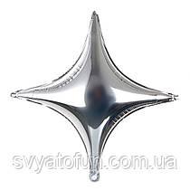 Фольгований куля зірка срібло 66*66см Китай
