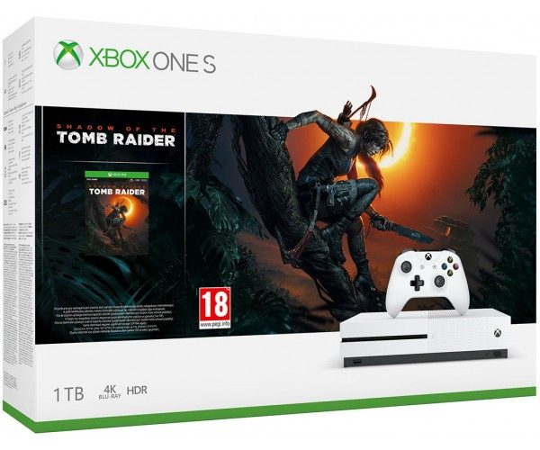 Xbox One S (1TB) + Shadow of the Tomb Raider Bundle