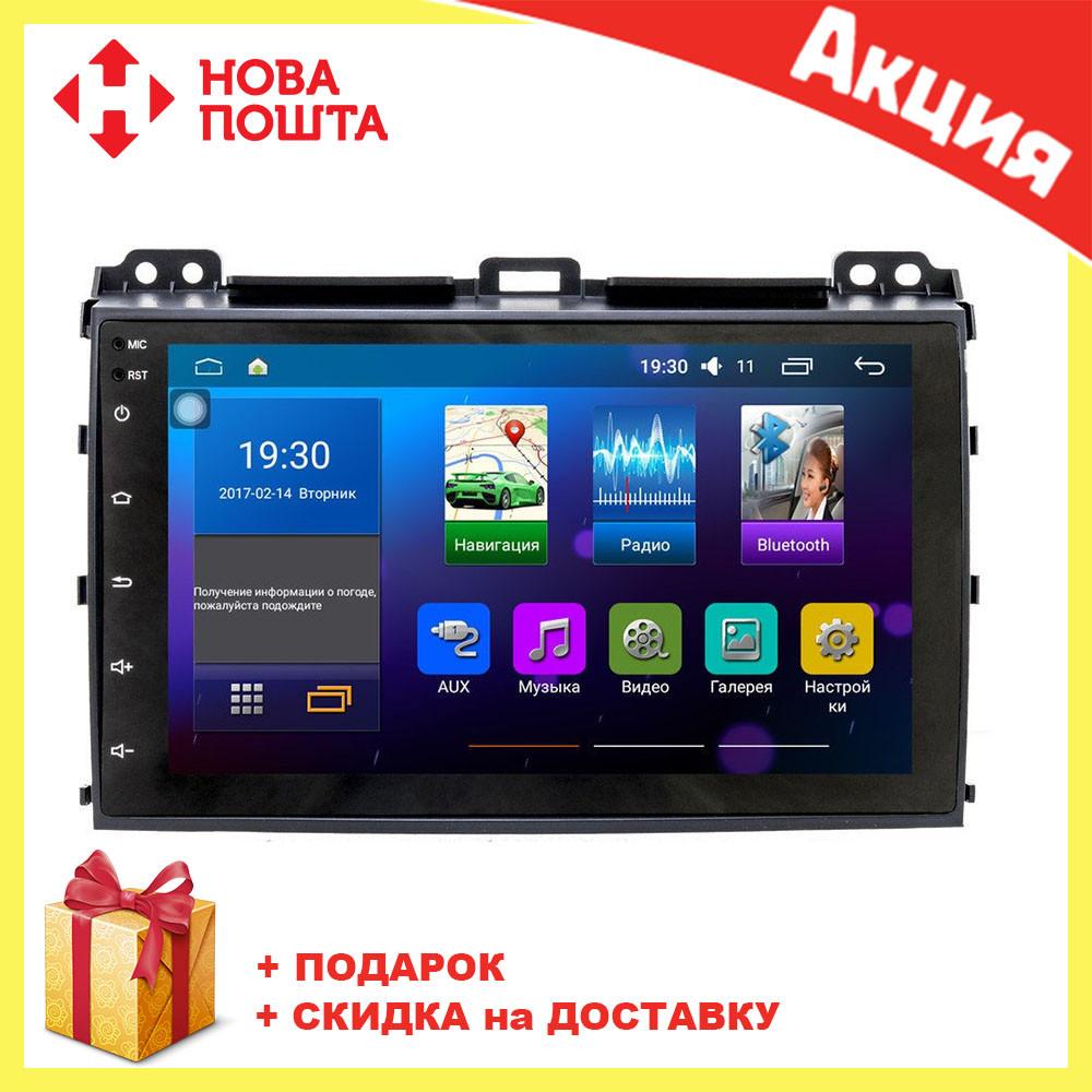 Штатная автомагнитола с GPS навигацией для автомобилей Toyota Prado 120 (2008) Android 5.0.1