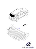 Заднее стекло Hyundai Santa Fe III 2012-2015, фото 1
