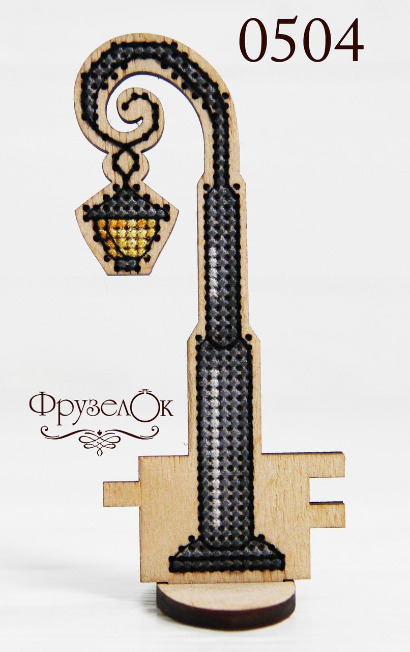 """Набір для вишивання хрестиком на дерев'яній основі """"Ліхтар"""", фото 1"""