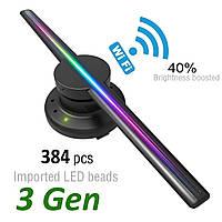 3d 384 LED голографический вентилятор (3d holographic display) Wi-Fi Рекламный дисплей