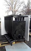 Котел на твердом топливе длительного горения 12 квт . аквабуллер Тип-01 со стеклом