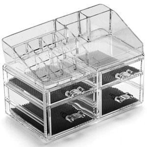 Подставка для косметики 7017 2в1 комод с 4 ящиками и подставкой