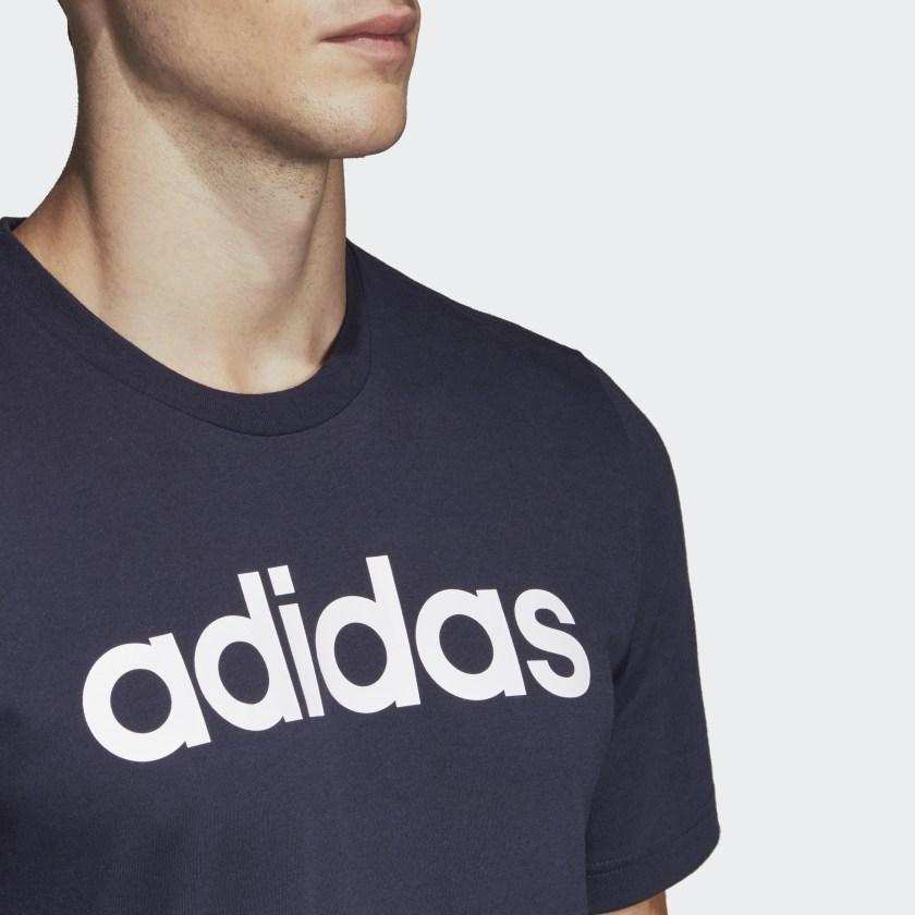 df3c8c0f7c41 Футболка Adidas мужская синяя E LIN TEE DU0406: продажа, цена в ...