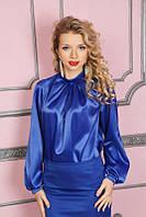 Женская нарядная блуза из атласа 936