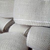 Лента из натуральной мешковины (джут), белая 50 мм., 3,9 м.