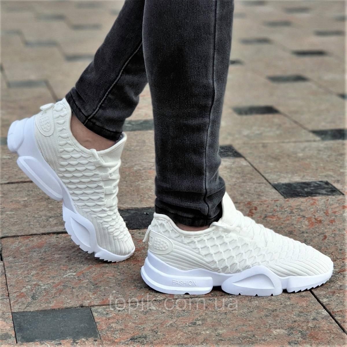 7549d07a5 Крутые женские кроссовки бежевые на весну лето мягкие, легкая белая подошва  (Код: 1355а