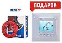 Теплый пол DEVIflex 18T двухжильный кабель 2775 Вт/ 19,4 м2 +терморегулятор ProfiTherm PRO