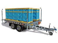 Платформа Прицеп для 10 уликов на 2 оси 750 кг без тормозов