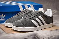 Кроссовки мужские Adidas Gazelle, темно-серые (14135) размеры в наличии ► [  46 (последняя пара)  ], фото 1