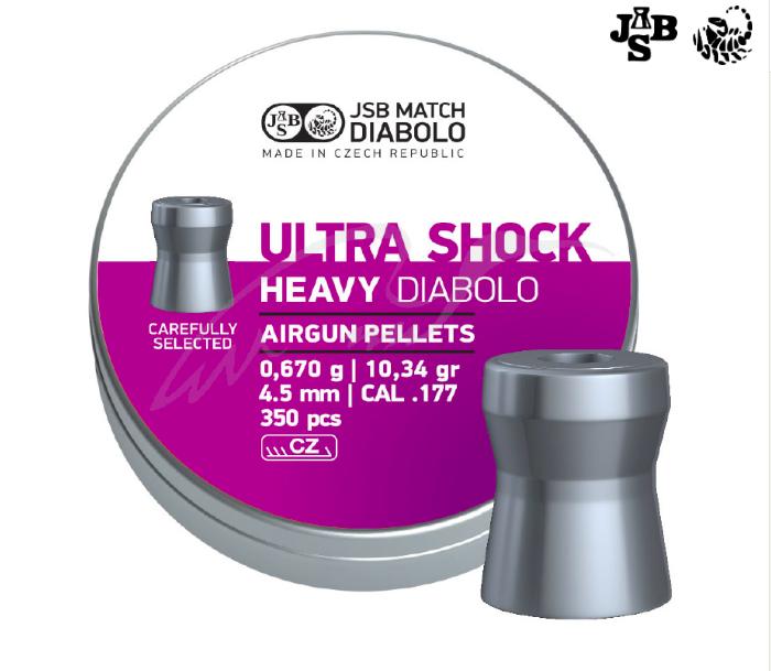 Пули пневматические JSB Heavy Ultra Shock 4.52мм 0.67г 350шт