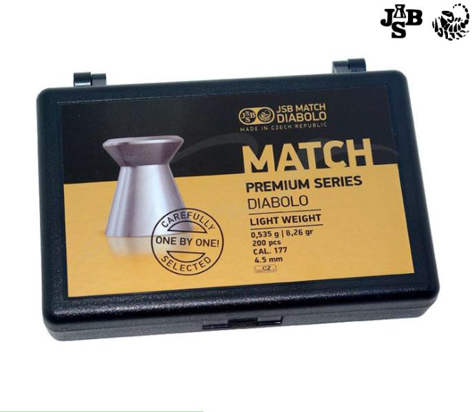 Пули пневматические JSB Match Premium HW 4.49мм 0.535г 200шт