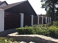 Горизонтальный деревянный забор для коттеджей LNK, фото 1