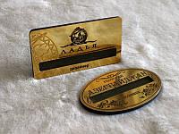 Бейджик металлический с окошком для вкладыша (позолота), 65х30 мм (Крепление: Булавка;  Именной: Все бейджи одинаковые;), фото 1