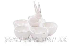Блюдо для яиц 5 шт с зайцем BonaDi керамика