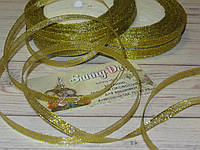Лента парча, цвет - золото,  12мм (22метра)