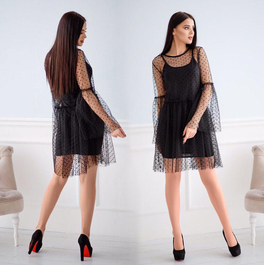3d8dfab404a Женское нарядное платье-двойка 366