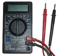 Мультиметр DT 830 B, Цифровой универсальный мультиметр, Цифровой тестер, Тестирование диодов, транзисторов, фото 1