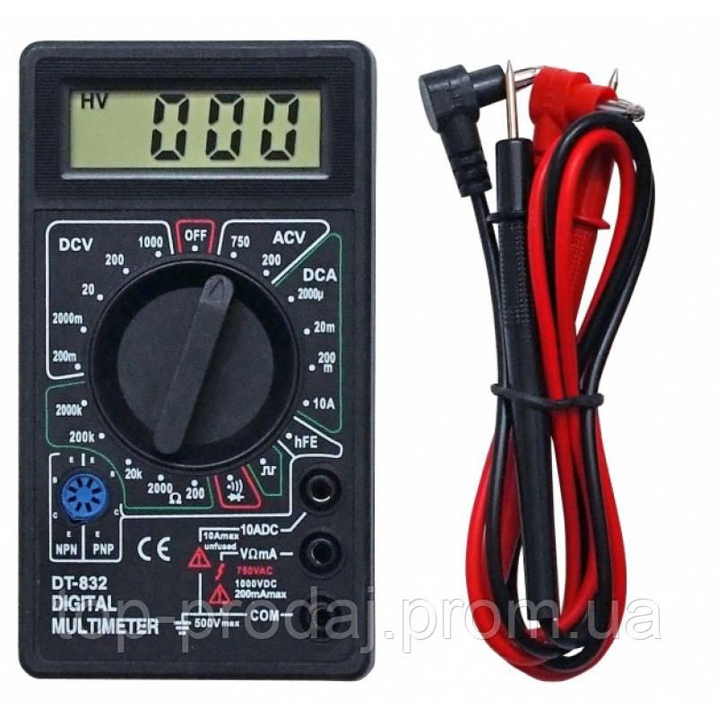 Мультиметр DT 832, Точный тестер, Тестирование диодов и транзисторов, Измерение напряжения, тока, прозвонка