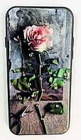 Чехол накладка Remax с цветочным принтом и стразы