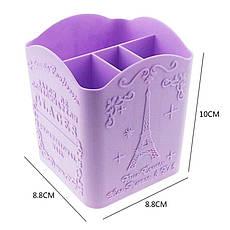 Подставка для косметики G-05 Glaces Pro Nail стакан сирень 4-ячейки, фото 3