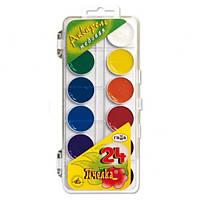 Краски акварельные 6, 7, 8, 9, 10,12,14,16,18, 20, 21, 24 цветов в одной упаковке