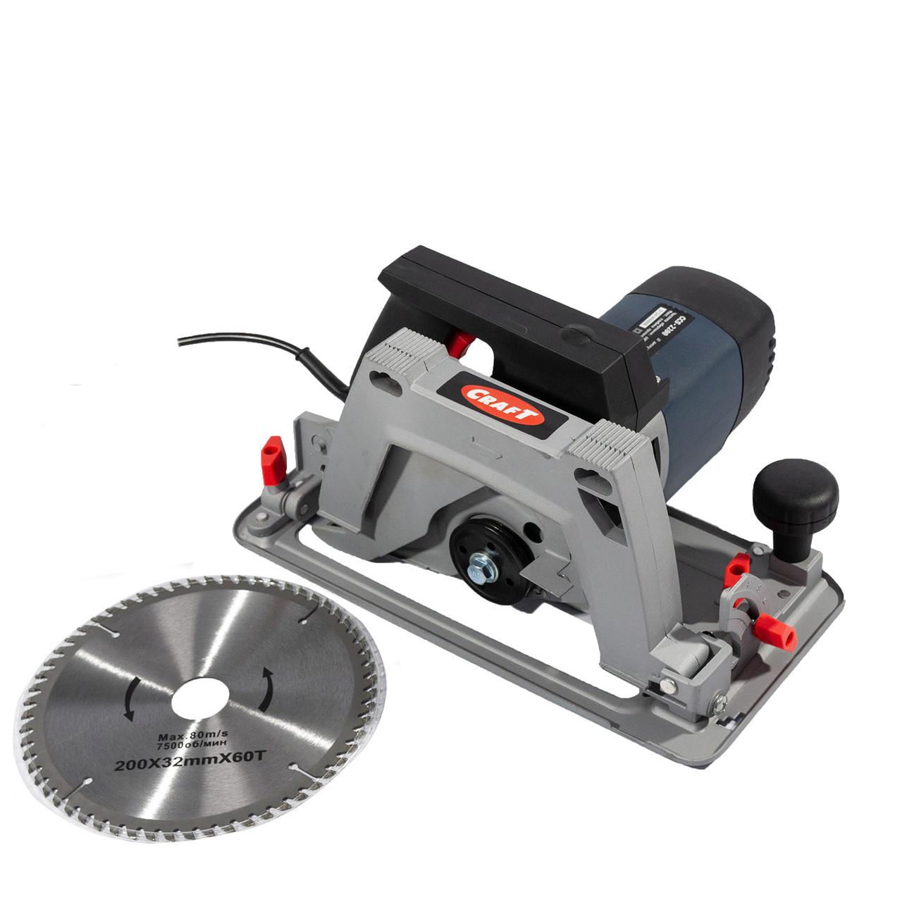 Пила дисковая циркулярная Craft CCS-2200