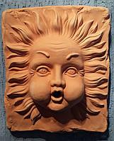 Декор для стены или фонтана, панно Ветер, терракота