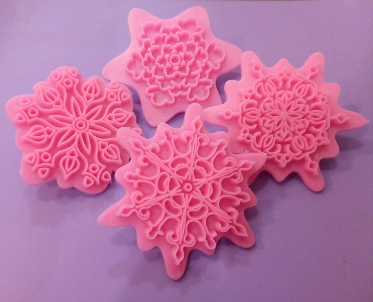 Пресс-шаблон для украшения торта ажурные снежинки