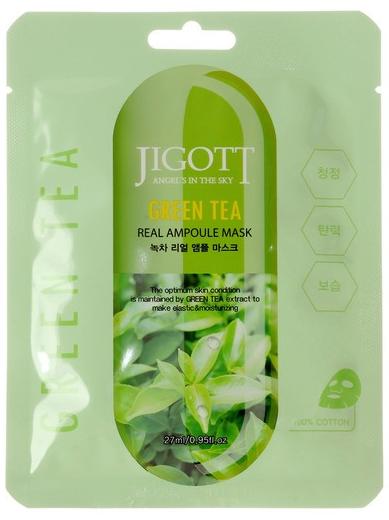 JIGOTT Ампульная тканевая маска с экстрактом зеленого чая
