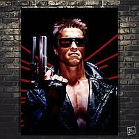 Постер Терминатор 1, Terminator 1, Арнольд Шварценеггер. Размер 60x47см (A2). Глянцевая бумага