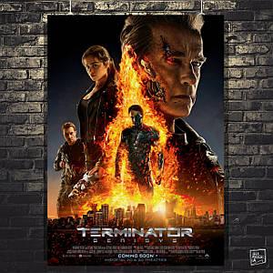 Постер Terminator Genesys, Терминатор Генезис. Размер 60x42см (A2). Глянцевая бумага