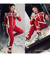 """Женский спортивный костюм """"Puma"""", размер 46-48, красный."""