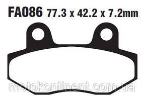 Мото колодки тормозные EBC FA086/2 аналог FDB312 /TRW MCB822 / BREMBO 07HO1304 /BRAKING BR 673