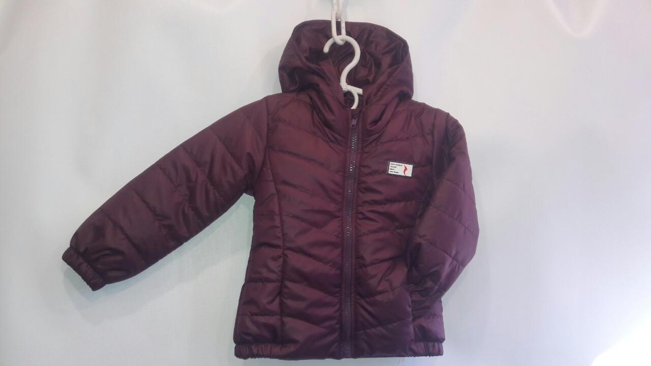 Курточка с капюшоном деми на рост 92-116 см