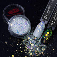 Глиттер №1 Galaxy Glitter PNB Professional, 1 грамм