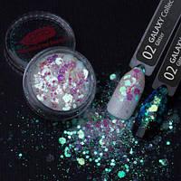 Глиттер №2 Galaxy Glitter PNB Professional, 1 грамм