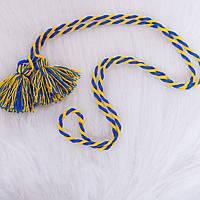 Пояс для вишиванки (синьо-жовтий)