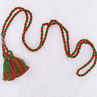 Пояс для вишиванки (червоно-зелений)