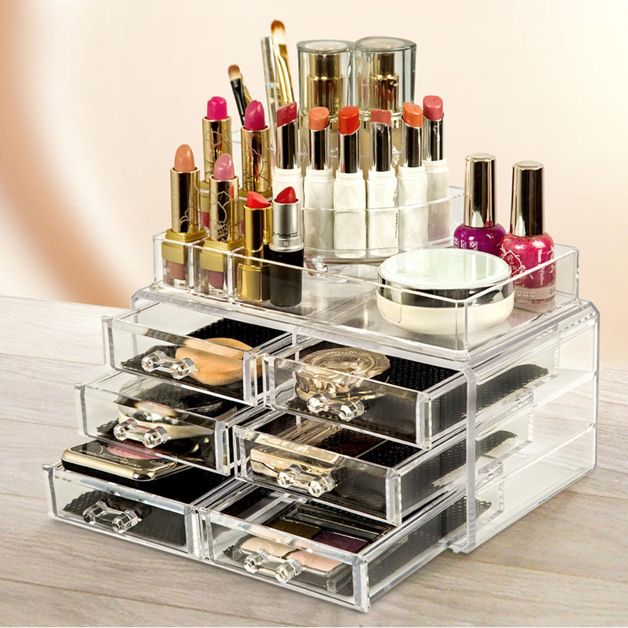 Акриловый органайзер для косметики Cosmetic Box 6 Drawer GW-812, 6 ящиков для косметики