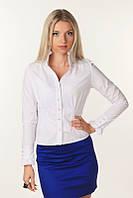 Классическая офисная женская рубашка 908 Белая, фото 1