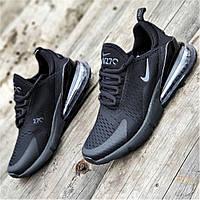 Мужские кроссовки сетка черные удобные, легкая подошва из пенки на лето весну (Код: М1356а)