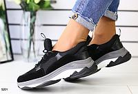 Кроссовки женские черные, фото 1